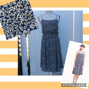 J. Crew Sundress in Blue Floral Size 6